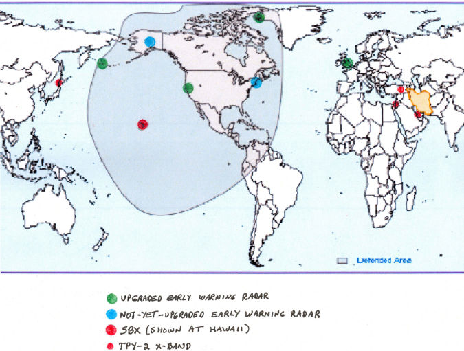 A Comparison Of Potential GMD XBand Radars June - Map of us missile defense systems