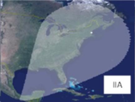 карта покрытя ПРО с одного корабля
